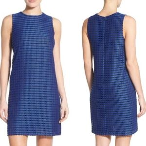 Halogen black and blue cocktail dress Large P